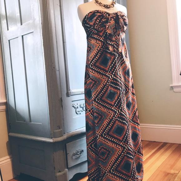 354ebf6b8 Band of Gypsies Dresses   Strapless Boho Maxi Dress   Poshmark